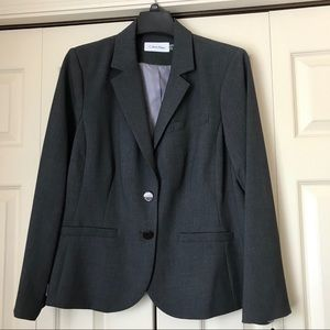 NWT Calvin Klein Charcoal Suit Jacket